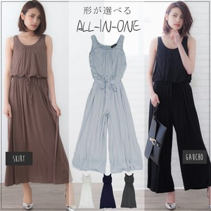 All-in-one Gaucho Skirt Sleeveless One-piece Dress