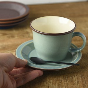 Board Cup Saucer Smoky Green MINO Ware