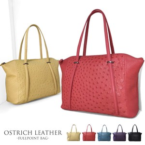 Real Ostrich Point Bag Genuine Leather Ladies Bag