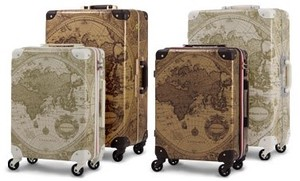 Travel Map Trunk Hard Carry Case