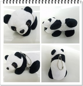 Panda Bear Ball Chain Key Ring