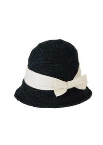 Ribbon Hand Knitting hemp Cotton Hat Hats & Cap Uv Countermeasure