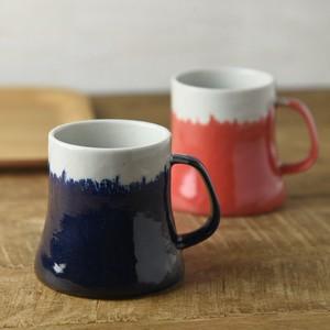 【箱入り2個セット】富士山マグカップ 青富士&赤富士 ギフトセット[H393][日本製/美濃焼/洋食器]