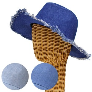 Damage Denim Felt Hat Hat Countermeasure