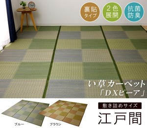 Rush Flower Carpet Grid Pattern Checkered pattern