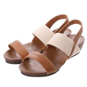 Cow Leather Band Casual Wedged Sandal