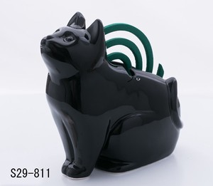 Japanese summer features Ornament Interior Cat Silhouette Sitting Mosquito Coil Stand