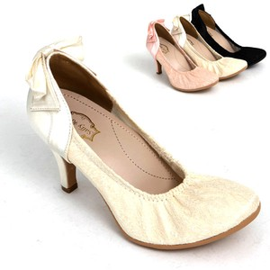 S/S Lace Bag Ribbon Pumps Solid Insole