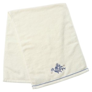Towel White Blue Hand Face Toilet Fabric