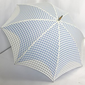 Beach Parasol Stick Umbrella Checkered Plain Double