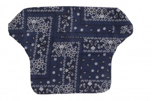 Baby Career Print Cover Navy Bandana