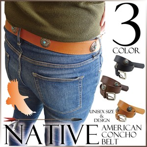 Belt Native American Casual Men's Unisex Leather Synthetic Leather