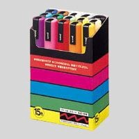 "[(uni)MITSUBISHI PENCIL] ""POSCA"" Non-Permanent Marker 15 color set"