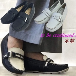 All All Year Buckle Attached Genuine Leather Shoes Heel Arch