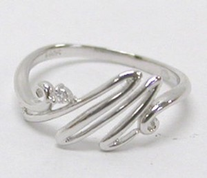Silver 925 Initial Cubic Ring
