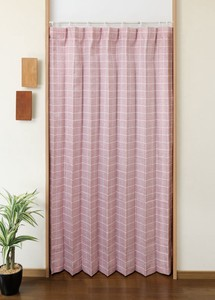 Curtain Fabric Use Pleats Partition Grid Pattern
