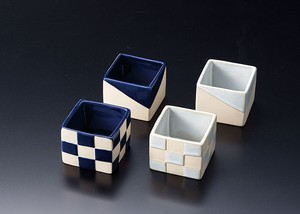 Square Shape Modern Spice Tray Checkered Edge
