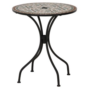 Garden Mosaic Table Floral Pattern