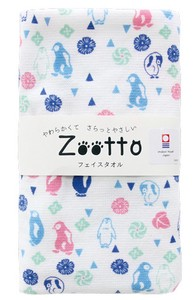 IMABARI TOWEL Japanese sweets Penguin Gauze Face Towel Animal Zoo