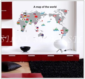 Map Office Wall SEAL Scandinavia Peel Off SEAL