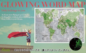 Detail World Map Poster English Europe Kids