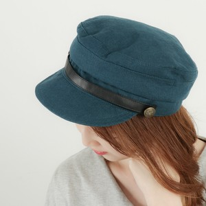 Ladies Men's Leather Military Cap