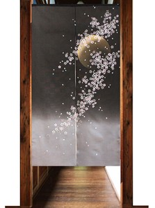 Japanese Noren Curtain The Moon Viewing Sakura Japanese Style Cosmo