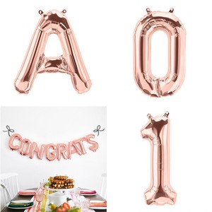 Letter Balloon Rose Gold Alphabet Number American