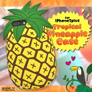 White Case Series Tropical Mood iPhone Plus iPhone7 Plus Tropical Pineapple Case