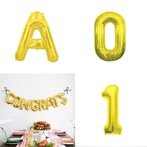 Letter Balloon Gold Alphabet Number Balloon