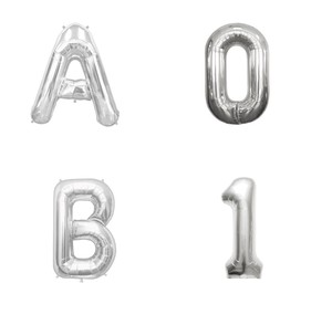 Letter Balloon Silver Alphabet Number Balloon
