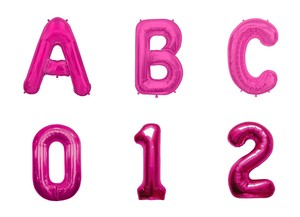 Letter Balloon Magenta Alphabet Number Balloon