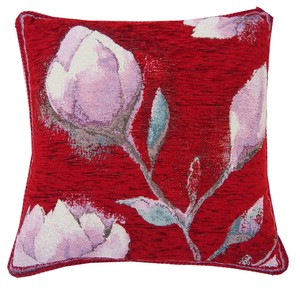 Italy Washable Jacquard Cushion Cover Red
