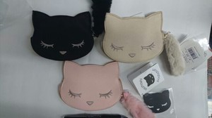 Cat Attached Face Commuter Pass Holder Coin