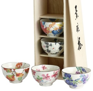 Mino Ware Gift Flower Rice Bowl