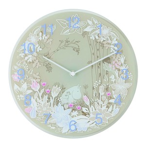 【ムーミン・北欧】Wall clock Moomin Picking Flowers