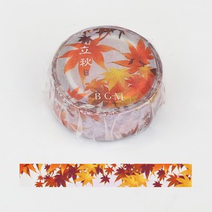 [BGM] Washi Tape  / Masking Tape Beginning of Autumn Washi Tape