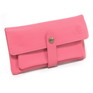 soft Genuine Leather Long Wallet Pink