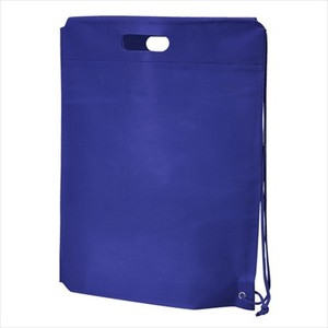 Non-woven Cloth Shoulder Bag Navy Single-shoulder velty