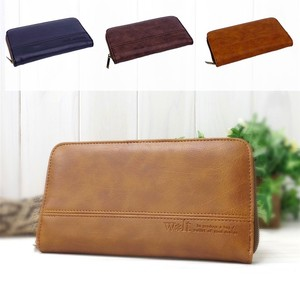 Walt Synthetic Leather Round Long Wallet