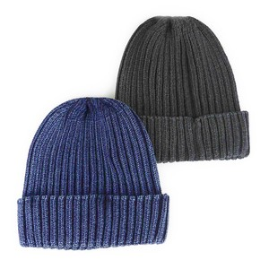 Indigo Dyeing Cotton Knitted Watch Cap Young Hats & Cap