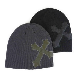 Closs Patch Wide Knitted Watch Cap Young Hats & Cap