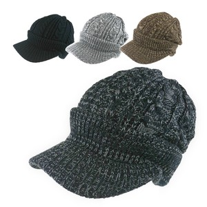 Cable Visor Knitted Cap Young Hats & Cap