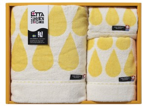 Face Hand Towel Blue Yellow