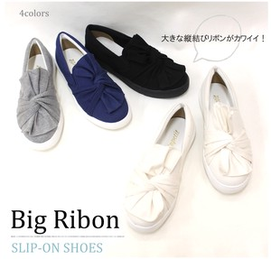 Spring Items Emergency Ribbon Knot Sweat Material Slippon