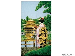 Creation Japanese Noren Curtain Apprentice Geisha Kinkaku Temple