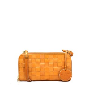 Leather Mesh Wallet Shoulder Bag