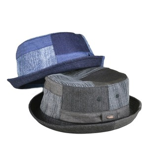 Ruben Denim Patchwork Pork Pie Hat Young Hats & Cap