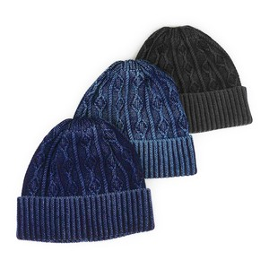 Ruben Indigo Cotton Cable Knitted Watch Cap Young Hats & Cap