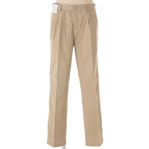 Tuck Chino Pants Beige Navy Brown